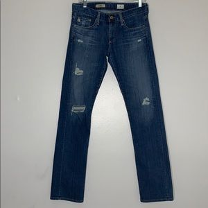 AG The Tomboy Relaxed Straight Leg Distressed Jean